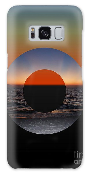 Geometric Sunset- Circle Galaxy Case by Darla Wood