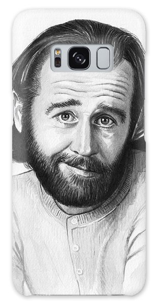 George Carlin Portrait Galaxy Case