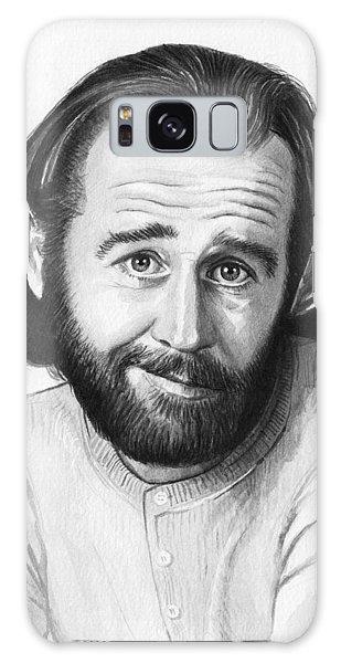 Celebrities Galaxy Case - George Carlin Portrait by Olga Shvartsur