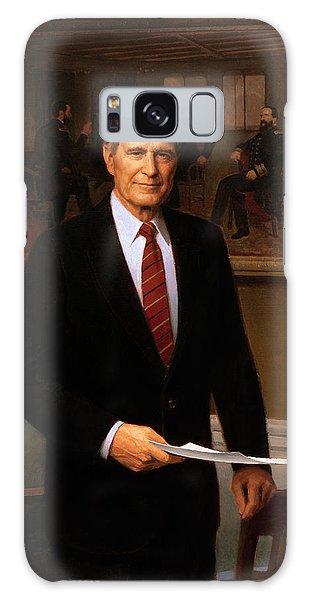 George Hw Bush Presidential Portrait Galaxy Case