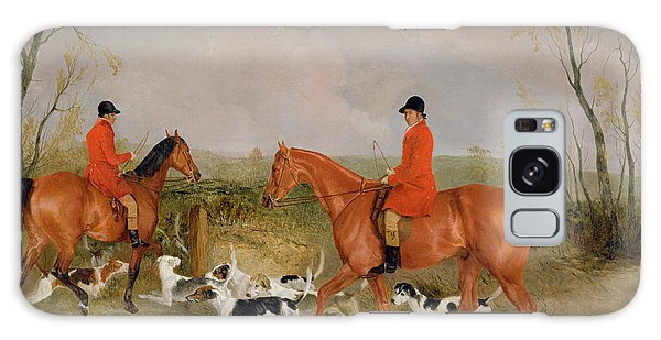 Whip Galaxy Case - George Mountford, Huntsman To The Quorn, And W. Derry, Whipper-in, At John Ogaunts Gorse, Nr Melton by Richard Barrett Davis
