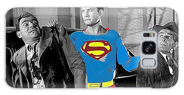 George Reeves As Superman In His 1950's Tv Show Apprehending Two Bad Guys 1953-2010 Galaxy Case