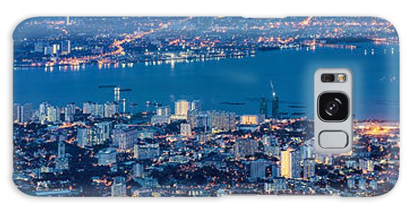 George Town Penang Malaysia Aerial View At Blue Hour Galaxy Case by Jit Lim