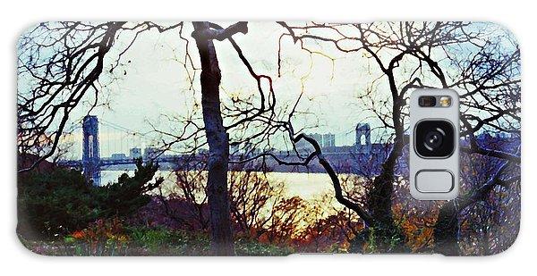 George Washington Bridge At Sunset Galaxy Case
