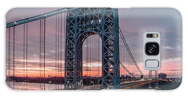George Washington Bridge At Twilight Galaxy Case