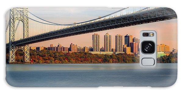 George Washington Bridge In Autumn Galaxy Case