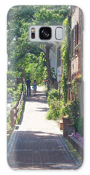 Georgetown Canal Walk Galaxy Case by David Nichols