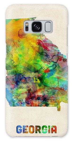 Georgia Watercolor Map Galaxy Case