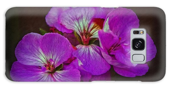 Geranium Blossom Galaxy Case by Hanny Heim