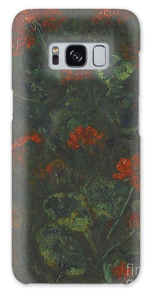 Russian Impressionism Galaxy Case - Geraniums by Celestial Images