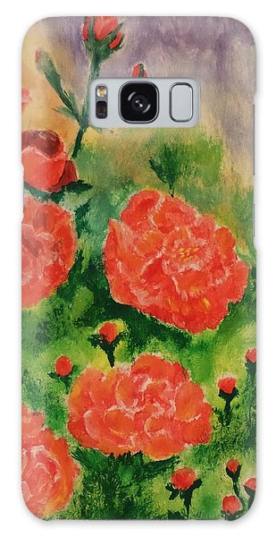 Geraniums Galaxy Case by Christy Saunders Church