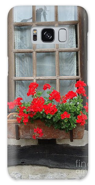 Geraniums In Timber Window Galaxy Case