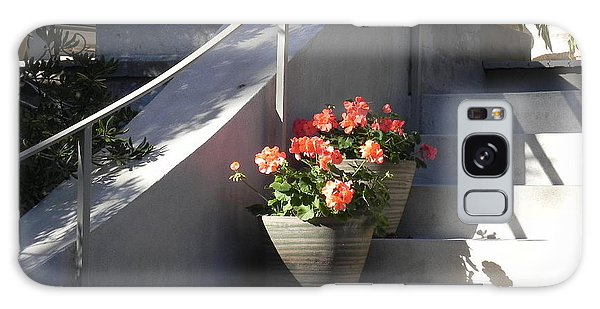 Geraniums Look Better In Beaufort Galaxy Case by Patricia Greer