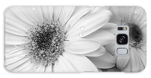 Marie Galaxy Case - Gerber Daisies In Black And White by Jennie Marie Schell