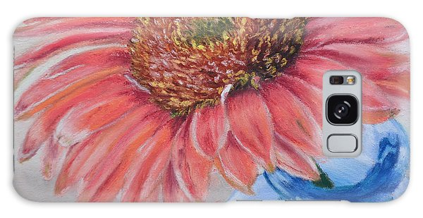 Gerbera Daisy With Blue Glass Galaxy Case