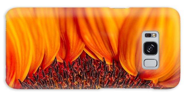 Galaxy Case featuring the photograph Gerbera On Fire by Adam Romanowicz