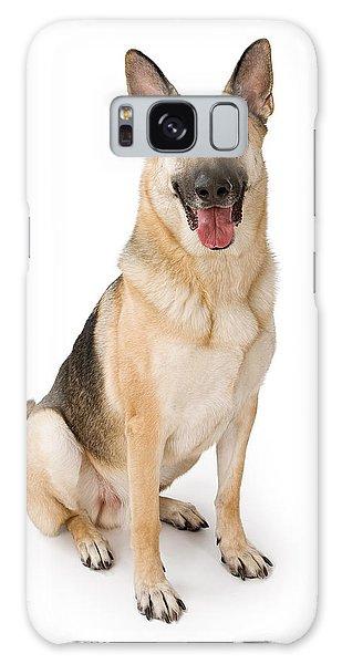 German Shepherd Dog Isolated On White Galaxy Case