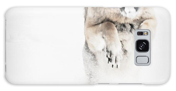 German Shepherd In The Snow Galaxy Case