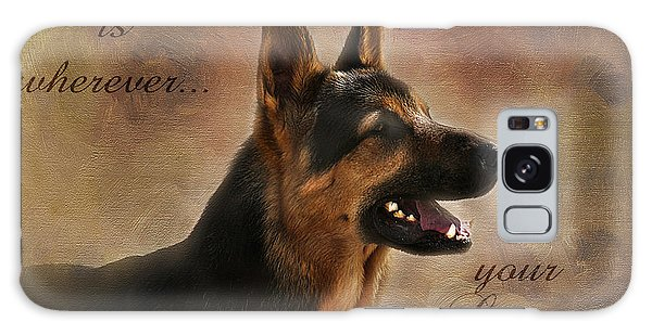 German Shepherd Portrait Galaxy Case