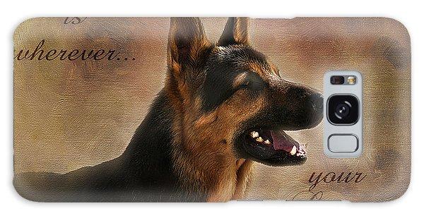 German Shepherd Portrait Galaxy Case