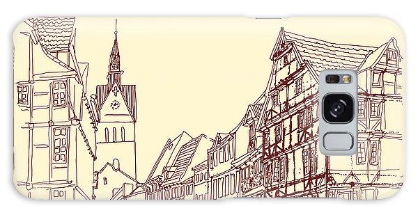 Door Galaxy Case - German Town, Walking Street, Timber by Babayuka
