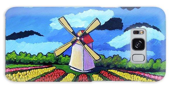 German Tulip Field Galaxy Case by Sebastian Pierre