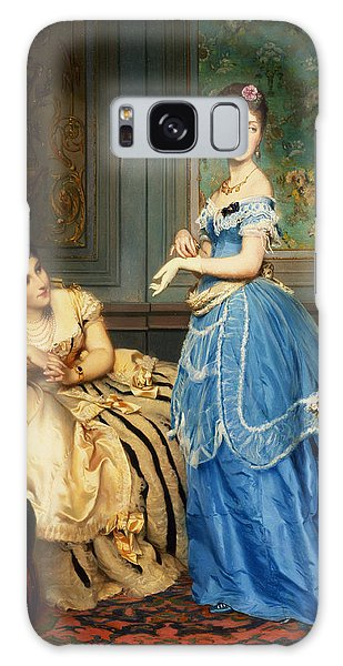 Ostrich Galaxy Case - Getting Dressed, 1869 by Charles Edouard Boutibonne