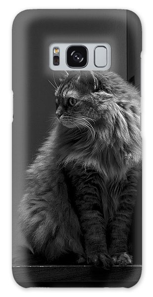 Ghiga Posing In Black And White Galaxy Case