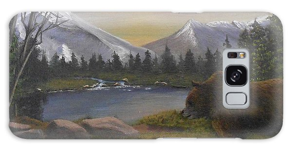 Ghost Bear-the Cascade Grizzly Galaxy Case by Sheri Keith