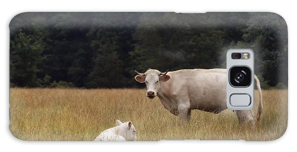 Ghost Cow And Calf Galaxy Case