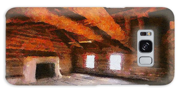 Ghost Ranch Cabin Galaxy Case by Carrie OBrien Sibley