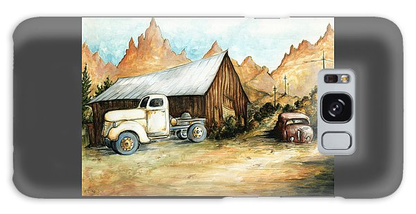 Ghost Town Nevada - Western Art Painting Galaxy Case