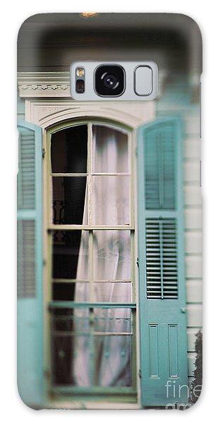 Ghostly Window Galaxy Case by Heather Green