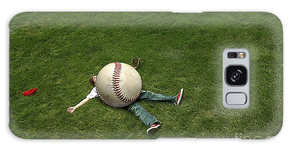 Baseball Players Galaxy S8 Case - Giant Baseball by Diane Diederich