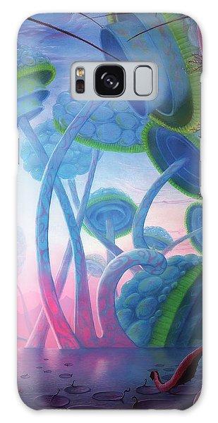 Sea Lily Galaxy Case - Giant Mushroom Lifeforms On Alien World by Mark Garlick