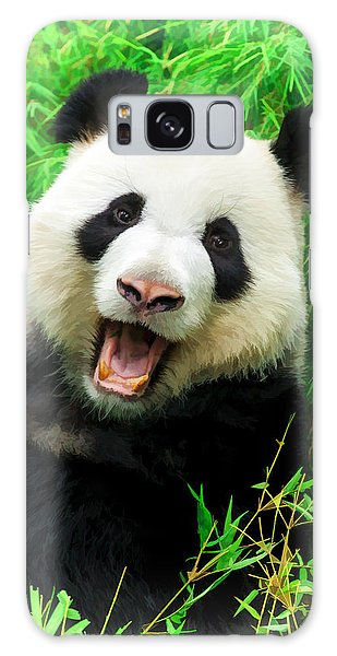Giant Panda Laughing Galaxy Case
