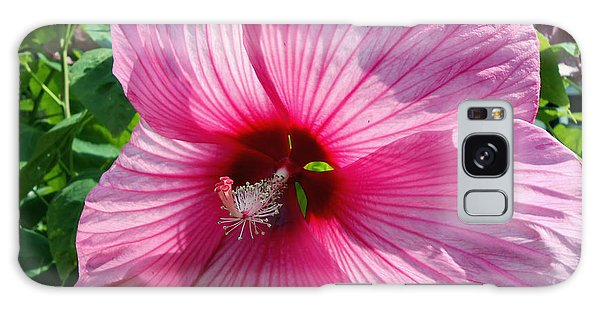 Giant Pink Hibiscus Galaxy Case by Eva Thomas