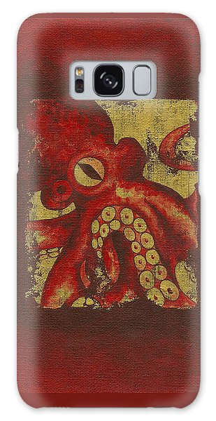 Giant Red Octopus Galaxy Case