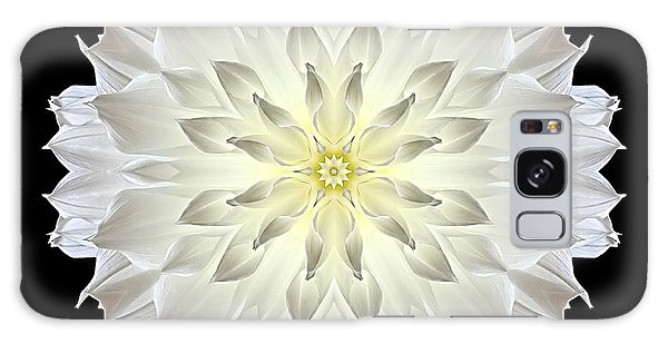 Giant White Dahlia Flower Mandala Galaxy Case