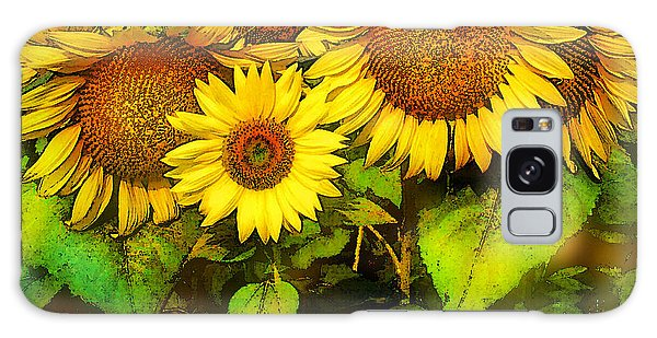 Giants Sunflowers Galaxy Case
