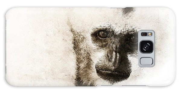 Crested Gibbon #1 Galaxy Case by Nola Lee Kelsey