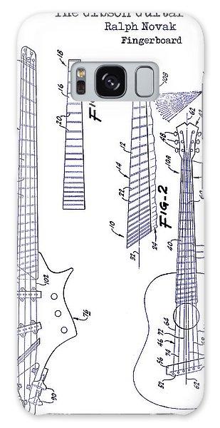 Blueprint Galaxy Case - Gibson Guitar Patent Blueprint by Jon Neidert