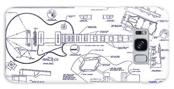 Blueprint Galaxy Case - Gibson Les Paul Blueprint Drawing by Jon Neidert