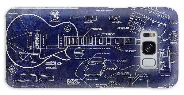 Blueprint Galaxy Case - Gibson Les Paul Blueprint by Jon Neidert