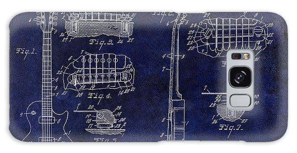 Patent Galaxy Case - Gibson Les Paul Patent Drawing Blue by Jon Neidert