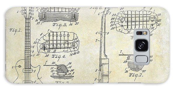 Patent Galaxy Case - Gibson Les Paul Patent Drawing by Jon Neidert