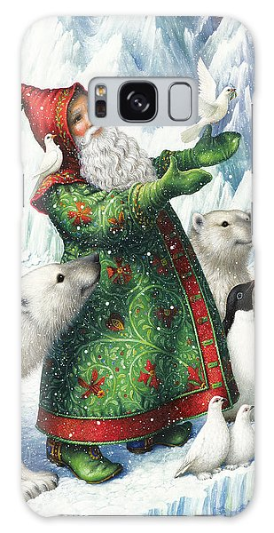Santa Claus Galaxy Case - Gift Of Peace by Lynn Bywaters