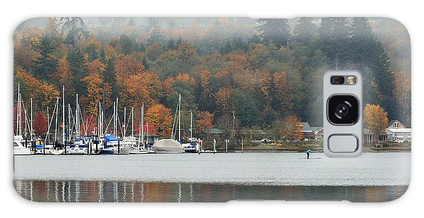 Gig Harbor In The Fog Galaxy Case by E Faithe Lester