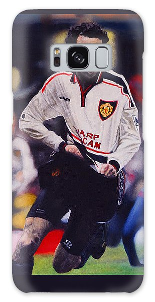Giggs Goal V Arsenal Oil On Canvas Galaxy Case
