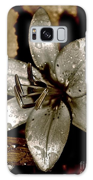 Gilded  Lilies 2 Galaxy Case by Linda Bianic